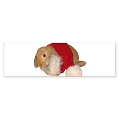 """Xmas Bunny 1"" Rectangle Sticker (Bumper 10 pk)"