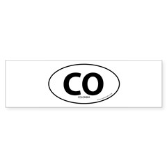 Colombia country bumper sticker -White (Oval) Sticker (Bumper 10 pk)