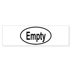 EMPTY Oval Sticker (Bumper 10 pk)