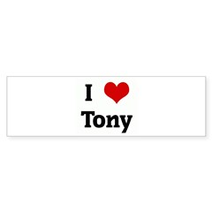 I Love Tony Rectangle Sticker (Bumper 10 pk)