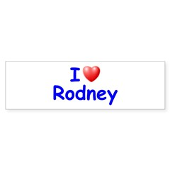 I Love Rodney (Blue) Sticker (Bumper 10 pk)