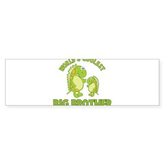 world's coolest big brother dinosaur Sticker (Bumper 10 pk)