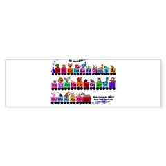 Alphabet Train Rectangle Sticker (Bumper 10 pk)