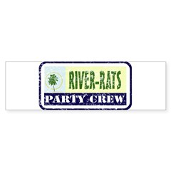 River Rat Rectangle Sticker (Bumper 10 pk)