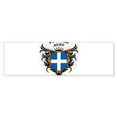 Number One Greek Aunt Oval Sticker (Bumper 10 pk)