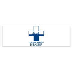 K9 Crosses - Disaster Search Rectangle Sticker (Bumper 10 pk)
