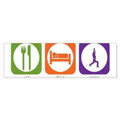 Eat Sleep Yoga Rectangle Sticker (Bumper 10 pk)