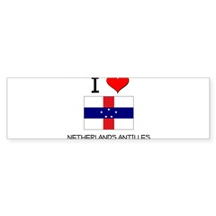 I Love Netherlands Antilles Sticker (Bumper 10 pk)