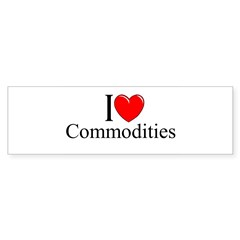 """I Love (Heart) Commodities"" Sticker (Bumper 10 pk)"
