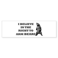 Right To Arm Bears Rectangle Sticker (Bumper 10 pk)