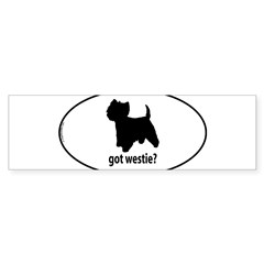 Got Westie? Oval Sticker (Bumper 10 pk)