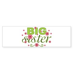 Big Sister Garden Flowers Rectangle Sticker (Bumper 10 pk)