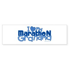 I Love My Marathon Grandma Rectangle Sticker (Bumper 10 pk)
