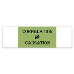 Correlation Causation Sticker (Bumper 10 pk)