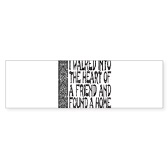 HEART OF A FRIEND Sticker (Bumper 10 pk)
