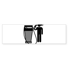 Gas Pump Suicide Rectangle Sticker (Bumper 10 pk)