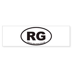 Ricketts Glen State Park RG Euro Oval Sticker (Bumper 10 pk)