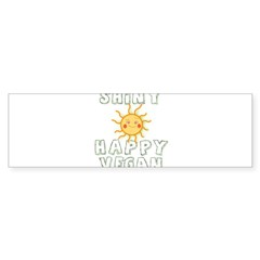 Shiny Happy Vegan Sticker (Bumper 10 pk)