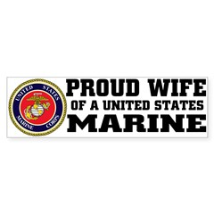 Marine Proud Wife Sticker (Bumper 10 pk)