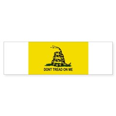 Gadsden Flag Oval Sticker (Bumper 10 pk)