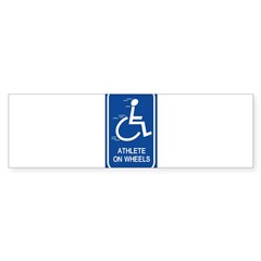 'Athlete on Wheels' Rectangle Sticker (Bumper 10 pk)