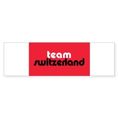 Team Switzerland Rectangle Sticker (Bumper 10 pk)
