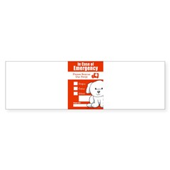 In Case of Emergency Rectangle Sticker (Bumper 10 pk)