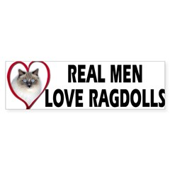 Real Men Love Ragdolls Sticker (Bumper 10 pk)