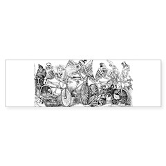 Calaveras en Bicicleta Rectangle Sticker (Bumper 10 pk)