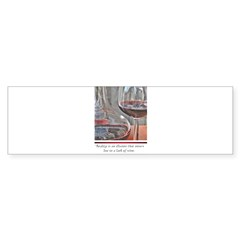 Red Wine Rectangle Sticker (Bumper 10 pk)