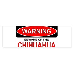 Beware Chi Rectangle Sticker (Bumper 10 pk)