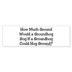 Groundhog Rectangle Sticker (Bumper 10 pk)