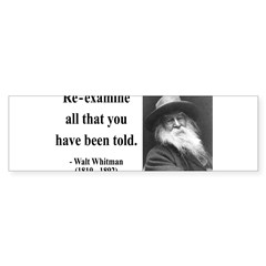 Walter Whitman 11 Rectangle Sticker (Bumper 10 pk)