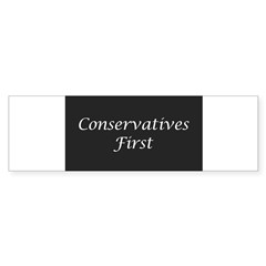 Conservatives First Oval Sticker (Bumper 10 pk)