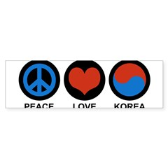 Peace Love Korea Rectangle Sticker (Bumper 10 pk)