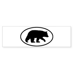 Black Bear Oval Sticker (Bumper 10 pk)