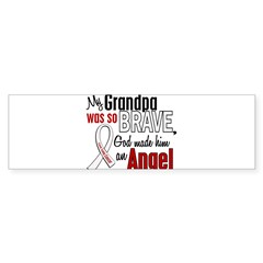 Angel 1 GRANDPA Lung Cancer Rectangle Sticker (Bumper 10 pk)