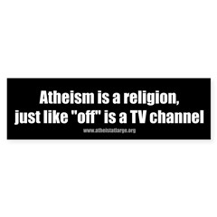 Atheism TV Sticker (Bumper 10 pk)