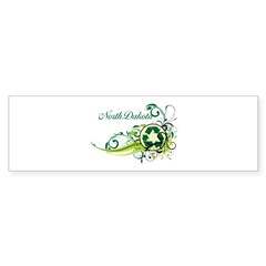 North Dakota Recycle T-Shirts and Gift Sticker (Bumper 10 pk)