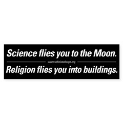 Science vs. Religion Sticker (Bumper 10 pk)