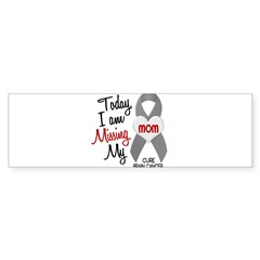 Missing 1 Mom BRAIN CANCER Oval Sticker (Bumper 10 pk)