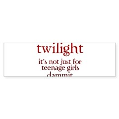 twilight, Not Just for Teenag Rectangle Sticker (Bumper 10 pk)