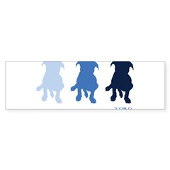 TPBP Blue Rectangle Sticker (Bumper 10 pk)