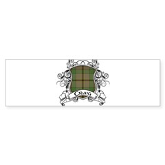 Craig Tartan Shield Sticker (Bumper 10 pk)