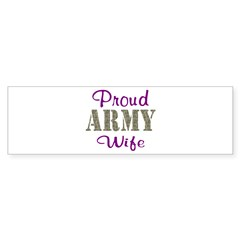 Army Purple Home/Office Sticker (Bumper 10 pk)