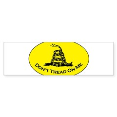 Don't Tread On Me Oval Sticker (Bumper 10 pk)