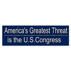 America's Greatest Threat Sticker (Bumper 10 pk)