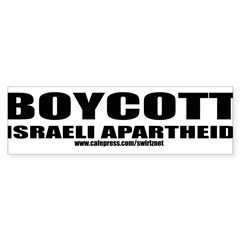 Boycott Apartheid Sticker (Bumper 10 pk)