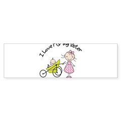 little brother big sister matching shirt Sticker (Bumper 10 pk)