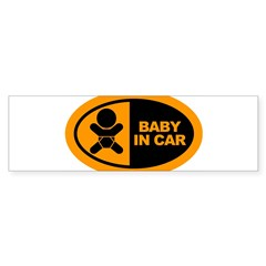 Baby in Car Safety Sticker for Car Sticker (Bumper 10 pk)